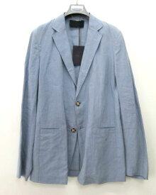 メンズ プラダ リネン ジャケット ブルー 48