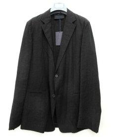 メンズ プラダ リネン ジャケット ブラック 52