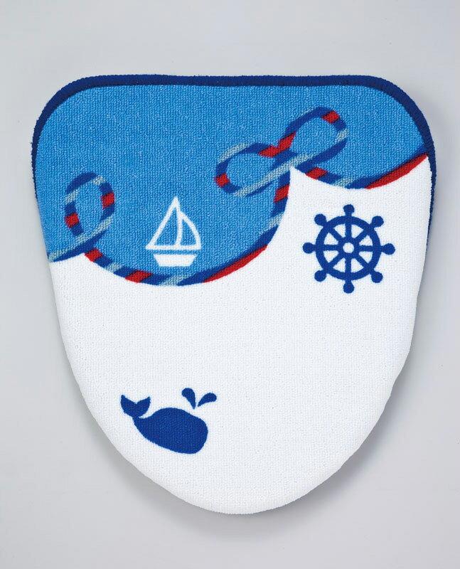 洗浄 暖房用 フタカバー サマーマリン(ブルー) ブルー 青 ヨット イカリ