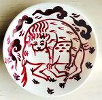 ケルズの書/ライオンが鹿を捕らえる図/小皿/古代