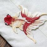 刺繍/ワッペン/アップリケ/金魚/夏祭り/浴衣/和服/アクセサリー制作等に。
