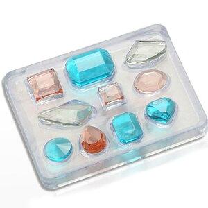 宝石の抜き型/宝箱/ビジュー/ジュエリー/シリコンモールド/製菓、製氷器、砂糖菓子、アイシング、チョコレート、レジン型、アクセサリーパーツ作り等に。