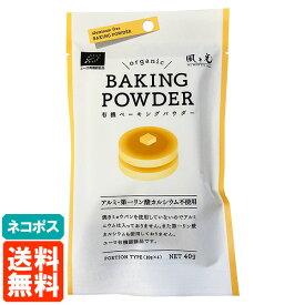 【送料無料・ネコポス】風と光 ベーキングパウダー 40g (10g×4袋) BAKING POWDER