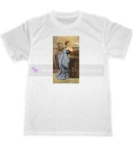 ジャン・バティスト・カミーユ・コロー 青い服の婦人 ドライ Tシャツ 名画 絵画 グッズ