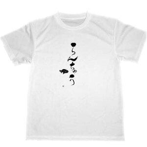 らんちゅう ドライ Tシャツ 書道 金魚 グッズ 漢字 KANJI