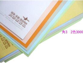 角3 コニーカラー85g L貼 3,000枚 [印刷2色]【smtb-k】【w1】 【楽ギフ_名入れ】