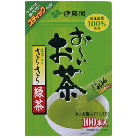 【法人様限定商品】-ed 152417 お〜いお茶 さらさら緑茶100P メーカー名 伊藤園-【教育・福祉】