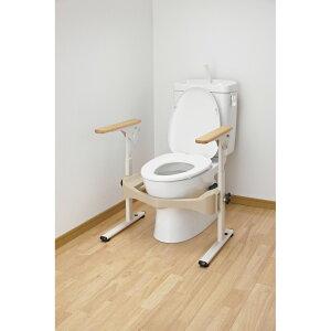 ※洋式トイレ用フレームSはねあげR-2木製ヒジ掛 アロン化成 品番 533-087 D20621 JAN 4970210841945