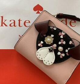 ★ケイトスペード  kete spadeレディース二つ折り財布 floral pup small zip bifold walletワンちゃん お財布 ピンク