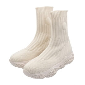 【WHITE−Lサイズ残り1足】スニーカーソックスブーツ ニットブーツ ブーツ リブ ソックスブーツ 美脚 ブーツ ブラック アイボリー 柔らか 歩きやすい 痛くなりにくい レディース 靴 無地 大人可愛い 無地 24.5cm tukn トゥクン
