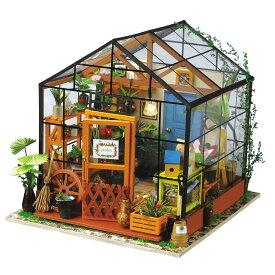 ミニチュアハウス ドールハウス DIY フラワー|日本公式販売/日本語説明書付 Robotime 組み立てキット DG104