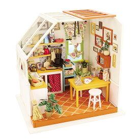 ミニチュアハウス ドールハウス DIY キッチン|日本公式販売/日本語説明書付 Robotime 組み立てキット DG105