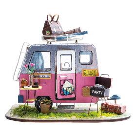 ミニチュアハウス ドールハウス DGM04 キャンプ|Robotime 日本公式販売/日本語説明書付 DIY 組み立てキット