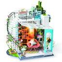 DG12 ルーフトップ|Robotime 日本公式販売/日本語説明書付 DIY ミニチュアハウス ドールハウス