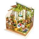 ミニチュアハウス ドールハウス DIY ガーデン|日本公式販売/日本語説明書付 Robotime 組み立てキット DG108