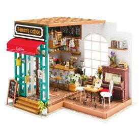 ミニチュアハウス ドールハウス DIY コーヒー|日本公式販売/日本語説明書付 Robotime 組み立てキット DG109