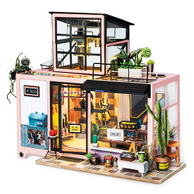 DG13 スタジオ|Robotime 日本公式販売/日本語説明書付 DIY ミニチュアハウス ドールハウス