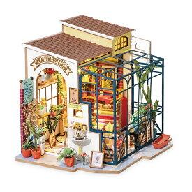 【公式】 つくるんです ミニチュアハウス フラワーショップ 日本語説明書付 Robotime 組み立て ドールハウス DIY キット DG145