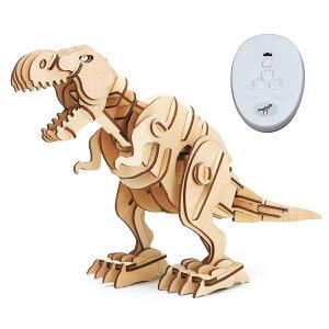 【公式】つくるんです D200 ティラノサウルス【大】|Robotime 日本公式/日本語説明書付 3Dウッドパズル ダイナソー 手作りキット 脳トレ 小学生 大人 工作キット 段ボール