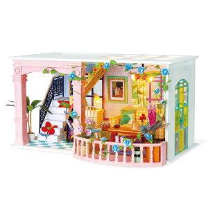 【公式】 つくるんです ミニチュアハウス ラブリーバルコニー 日本語説明書付 Robotime 組み立て ドールハウス DIY キット 手作りキット 脳トレ 小学生 大人 工作キット