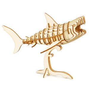 【公式】つくるんです TG274 サメ|Robotime 日本公式/日本語説明書付 3D ウッドパズル 手作りキット 脳トレ 小学生 大人 工作キット 段ボール