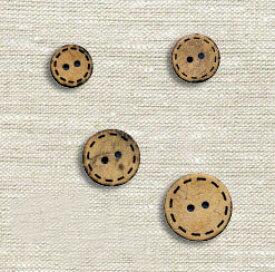 ナチュラルな素材感 やしの実 ボタン 13〜20mm CG-1305_1308 | つくる楽しみ