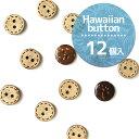 ボタン ハワイアンボタン ヤシの実 天然素材ボタン ナチュラルボタン やしの実 11.5mm( 12個入 ) | つくる楽しみ 天然…