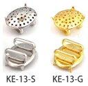 帯留め金具 ( 楕円 ) 2個入 KE-13   つくる楽しみ