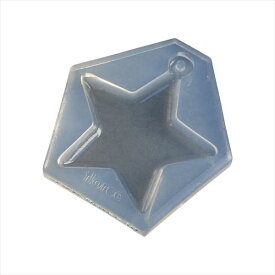 レジンクラフト用 ソフトモールド デザインフレームG 抜き星