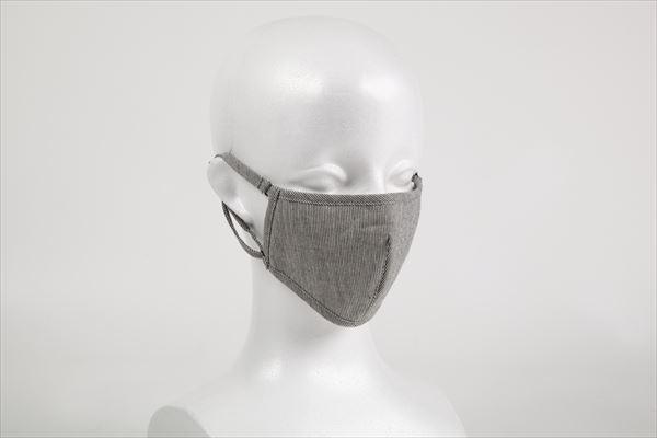 オーガニックコットン布マスク綿麻チェック(ダーツ)