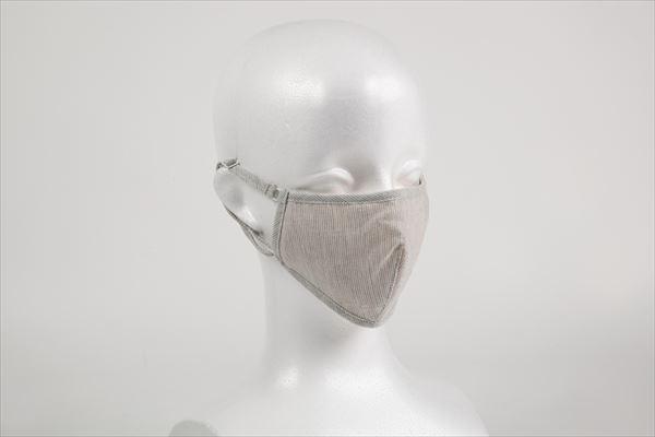オーガニックコットン布マスクガーゼボーダー(ダーツ)