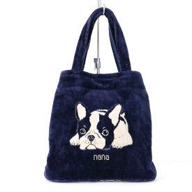 【送料込み】バッグ 横浜ナナ NANA タウンバッグ フレンチブルドッグ 紺ベージュ