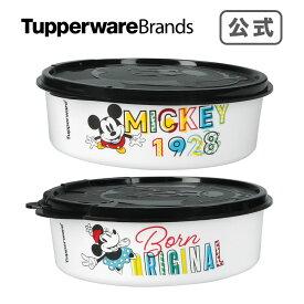 ディズニー ピクニックボールセット(2)ミッキーマウス&ミニーマウス キュートなミッキー お菓子ケース かわいい 保存容器 遠足 ピクニック 持ち運びに便利