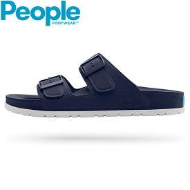 PEOPLE FOOTWEAR (ピープル フットウェア) / コンフォートサンダル EVA素材 メンズ レディース / LENNON - Paddington Blue / Yeti White / NC04-035 ツーストラップサンダル おしゃれ ぺたんこ 小さいサイズ 歩きやすい ローヒール 大きいサイズ 【t81】