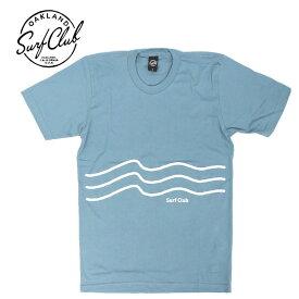 [送料無料] OAKLAND SURF CLUB (オークランドサーフクラブ) / 半袖 Tシャツ / WAVESTRIPE TEE - BABY BLUE / MADE IN THE U.S.A. / メンズアメカジ サーフブランド カリフォルニア california 【t44】
