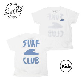 [送料無料] OAKLAND SURF CLUB (オークランドサーフクラブ) / キッズ 子供用 半袖 Tシャツ / MINI LAGUNA TEE - WHITE / MADE IN THE U.S.A.アメカジ サーフブランド カリフォルニア california 【t44】