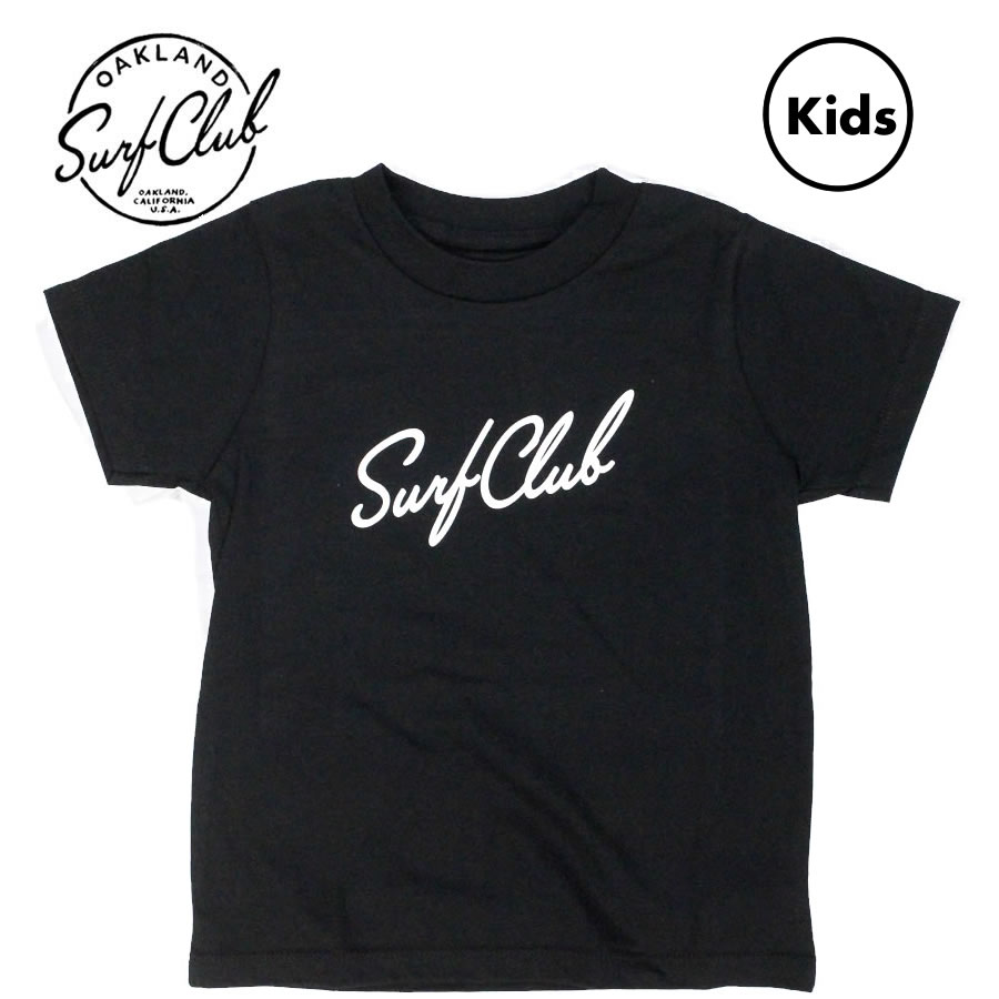 [送料無料] OAKLAND SURF CLUB (オークランドサーフクラブ) / キッズ 子供用 半袖 Tシャツ / MINI NEW WAVE TEE - BLACK / MADE IN THE U.S.A.アメカジ サーフブランド カリフォルニア california 【t25】
