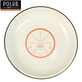 [正規品 無料ラッピング可]Poler Outdoor Stuff(ポーラー アウトドア スタッフ) / プレート お皿 / GOLDEN CIRCLE ENAMEL PLATE - OFF WHITE / アウトドア キャンプ 食器 BBQ  【t54】