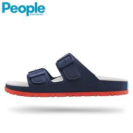 PEOPLE FOOTWEAR (ピープル フットウェア) / コンフォートサンダル EVA素材 メンズ レディース / LENNON - MARINER BLUE x YETI WHITE / NC04-114 ツーストラップサンダル おしゃれ ぺたんこ 小さいサイズ 歩きやすい ローヒール 【t81】