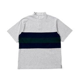 BAMBOO SHOOTS(バンブーシュート) / Tシャツ 半袖 ラグビーシャツ / PANELED RUGBY JERSEY - H.GREY / 1901010 / メンズ ラグビージャージー 送料無料  【t79】