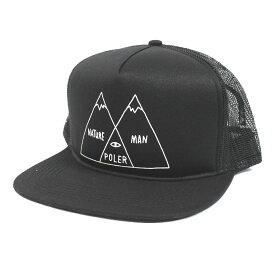 [正規品 無料ラッピング可]Poler Camping Stuff(ポーラー キャンピング スタッフ) / メッシュキャップ 帽子 / VENN DIAGRAM TRUCKER MESH CAP - BLACK / 55300006/ 19FW/ メンズ POLERのキャップ 【t05】