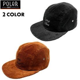 [正規品 無料ラッピング可]Poler Camping Stuff(ポーラー キャンピング スタッフ) / コーデュロイ キャップ 帽子 / CAMP VIBES 5P CORDUROY CAP / 55200073 / 19FW / メンズ POLERのキャップ 【t61】