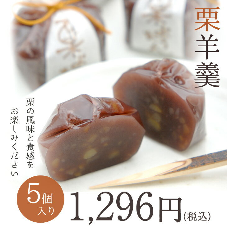 栗羊羹 5個 京都 和菓子 京菓子 ギフト お土産 手土産 ようかん