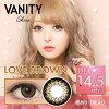 [日本 美瞳 ]tutti VANITY Shine 月抛彩色隐形眼镜 1片装 14.5mm/有度数-0.50~-6.00