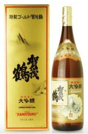 【送料無料】大吟醸・純金箔入 賀茂鶴 カモツル 特製ゴールド GK-A1 1.8L瓶(化粧箱入)(tutui20200724206)