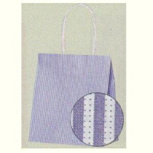 [業務用]紙袋手提げ 25チャームバック 21-12青モノストライプ(小さめサイズ)50枚ギフトにプレゼントにお菓子のラッピングに。おしゃれでかわいい紙製の袋 激安の包装用品(袋/手提げ袋/手提げ