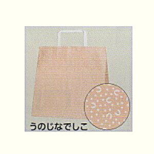 [業務用]紙袋手提げ 25チャームバック E(平手)うのじなでしこ(マチ広タイプ)50枚ギフトにプレゼントにお菓子のラッピングに。ご贈答や贈り物のラッピングにおしゃれでかわいい紙製の袋