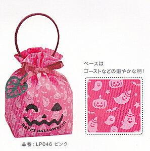 [業務用]ハロウィン用袋(紙袋) 使い捨て手提げリボンバック 1枚 ゴースト(おばけ/かぼちゃ)ピンク