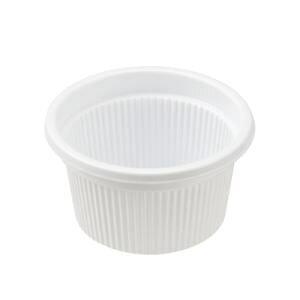 【業務用】1/2オンスカップ透明蓋付き【50個入り】【白】【小さいサイズ】ドレッシングやソース入れに最適。テイクアウト/デリバリー/弁当に。プラスチックの使い捨てカップ【約15cc(約15