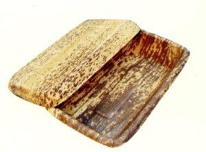 [業務用] 1段の竹製 使い捨て弁当容器竹皮容器(小) 50個入り弁当(お弁当)のテイクアウトに竹皮の弁当箱。お昼のお弁当箱に使い捨て弁当箱。男性、女性、子供にもおしゃれなお弁当パック。